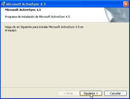 microsoft activesync 4.5 pour vista