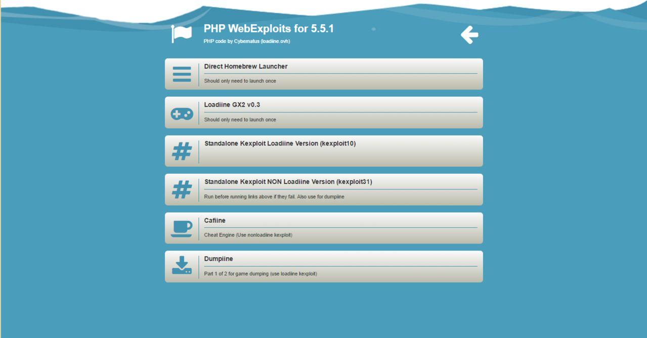 Inicia Loadiine y Homebrew Launcher mediante XAMPP (servidor