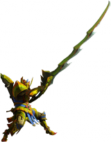 Render cazador espada larga juego Monster Hunter 4 Nintendo 3DS.png