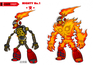 Mighty No. 9 - Arte conceptual - Mighty No. 1.png