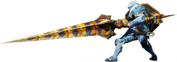 Render cazador lanza juego Monster Hunter 4 Nintendo 3DS.png