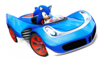 Arte Sonic coche juego Sonic & All-Stars Racing Transformed multiplataforma.png