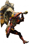Render cazador martillo juego Monster Hunter 4 Nintendo 3DS.png