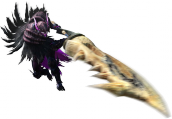 Render cazador gran espada juego Monster Hunter 4 Nintendo 3DS.png